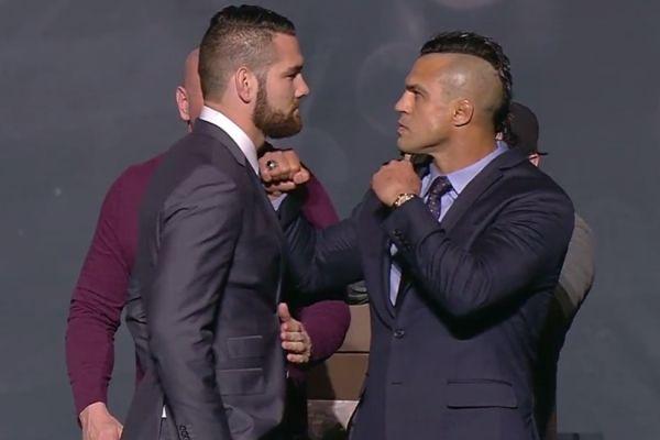 Belfort rouba a cena em encarada durante anúncio do calendário do UFC