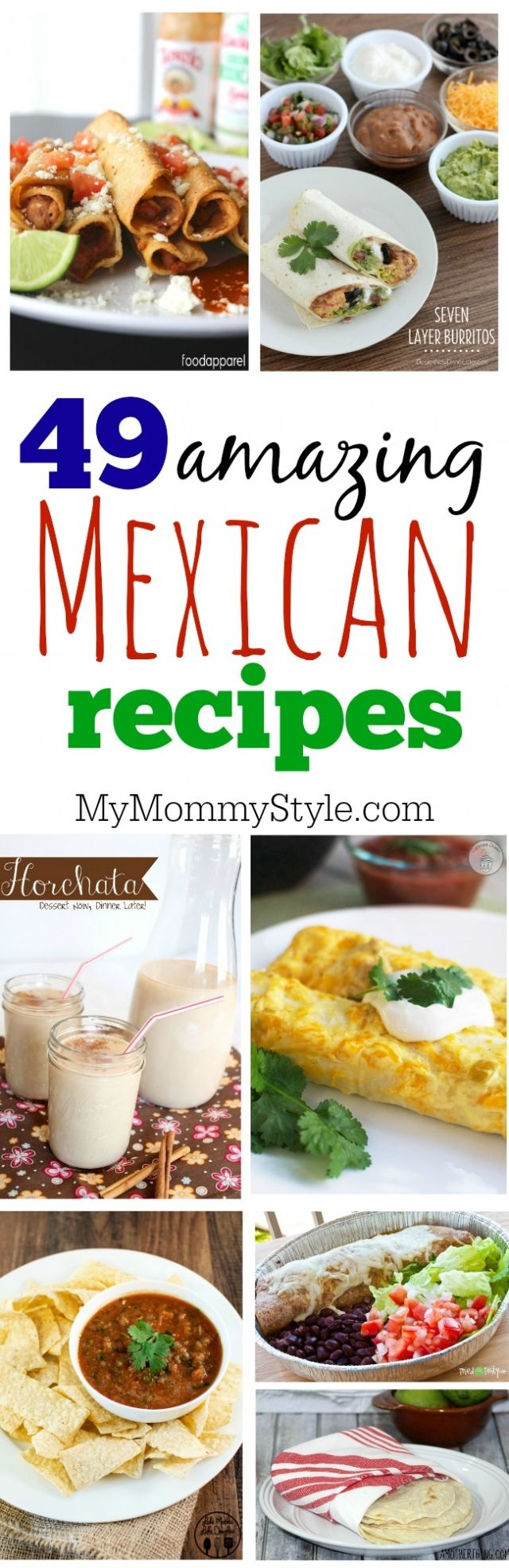 The best of the best Mexican Recipes perfect for Cinco de Mayo or anytime of the year! This round up has salsa recipes, burritos, tacos, enchiladas, horchata, Mexican rice, churros and more!