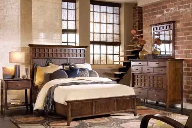 Интерьер спальни в стиле винтаж