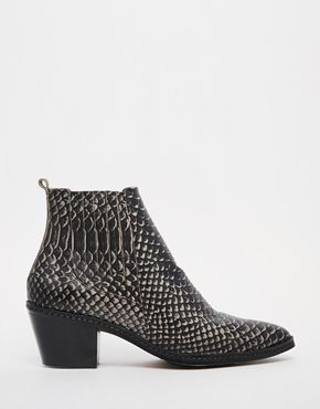 Bottines en cuir serpent Céleste - ASOS
