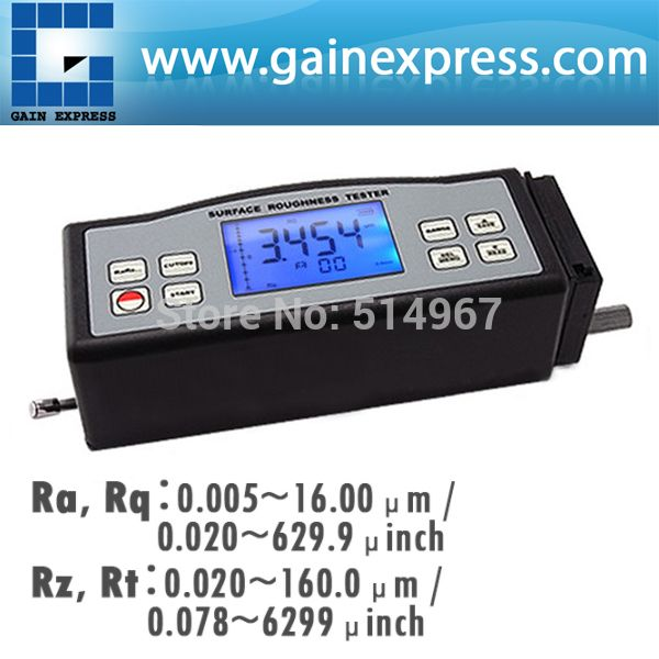 4 Parameters Digital Surface Roughness Tester (Ra, Rz, Rq, Rt) with Built-in Diamond pin probe +Metric / Imperial Conversion