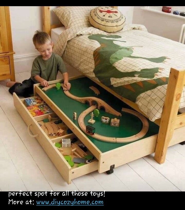 Great idea to do this for each boy. One for his trains and other for his Legos.