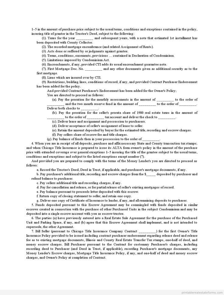 Printable contract sale of condominium template 2015