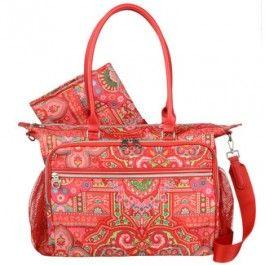 Oilily Spring Ovation Baby Bag Designer Wickeltasche raspberry rot bei Wickeltaschen.com