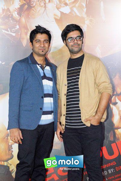 Sachin Sanghavi & Jigar Saraiyya at the Launch of Hindi movie 'Badlapur' song in Mumbai