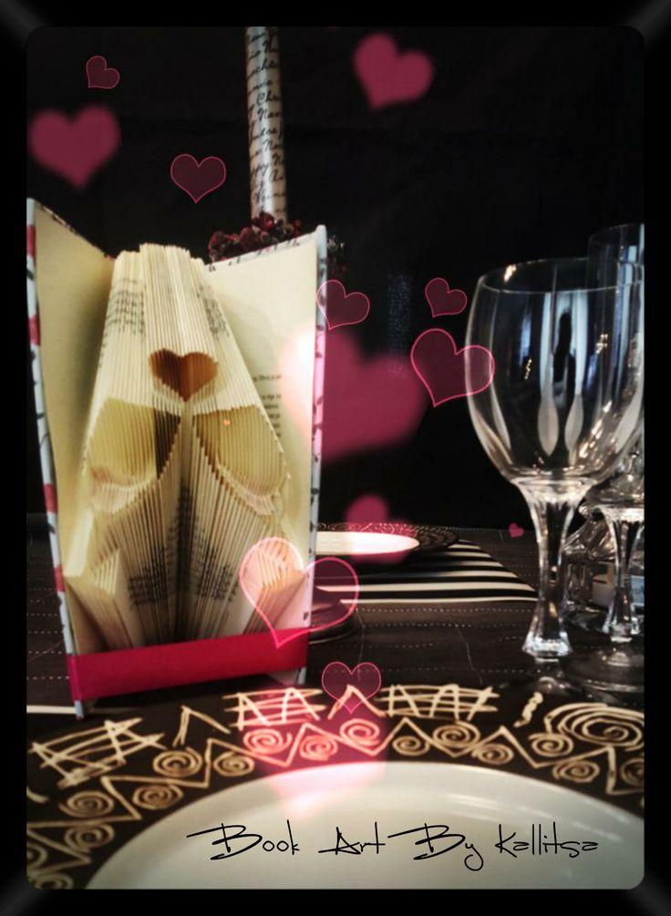 Δώρο ♥ Δώρο επετείου ♥ Δώρο αγάπης ♥ Έρωτας  ♥ Βιβλίο ♥ Book Folding ♥ Book Art ♥ Book Art By Kallitsa ♥ Δώρο Αγίου Βαλεντίνου ♥ Δώρο για επέτειο γάμου ή σχέσης ή για του Αγίου Βαλεντίνου #bookartbykallitsa #bookfolding #βιβλίο #ιδέες #δώρα