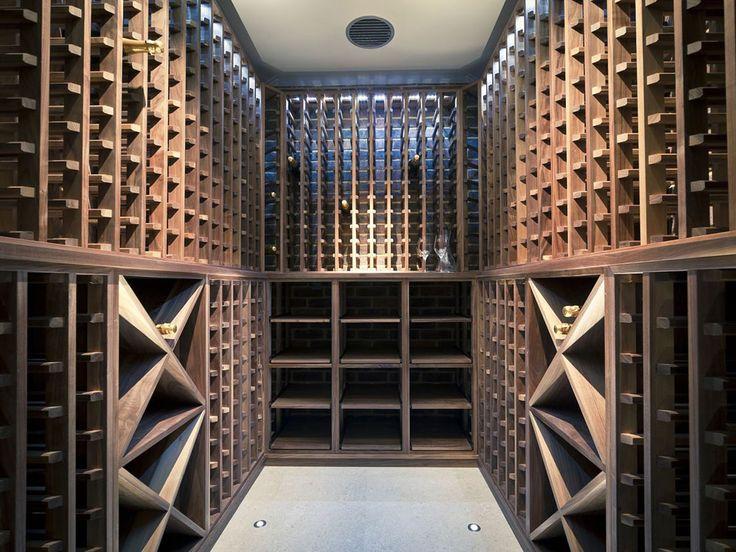 home wine room lighting effect. wine cellar made with walnut carlo garn home room lighting effect