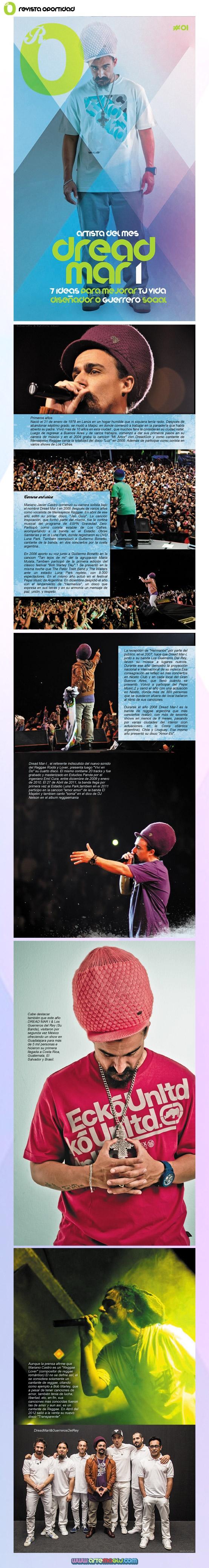 Revista Oportunidad  Tema del mes: Gerreros musicales  Dread Mar I...