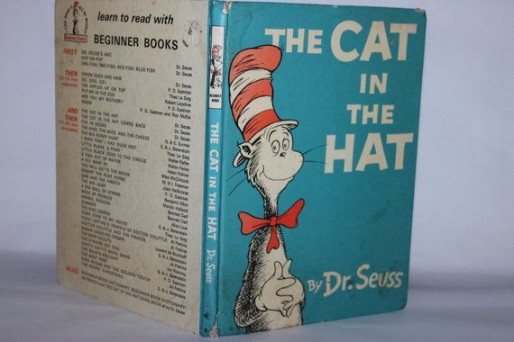 The Cat In The Hat Dr Seuss Collins 1958 Children S Etsy Children S Picture Books Picture Book Seuss