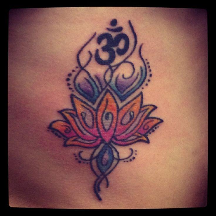 Om Sign And Lotus Flower Tattoo Tats ️ Pinterest