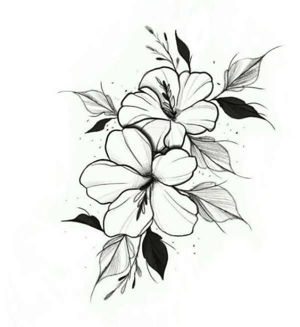 42 Simple And Easy Flower Drawings For Beginners Cartoon District Flower Drawing Dogwood Flower Tattoos Pencil Drawings Of Flowers