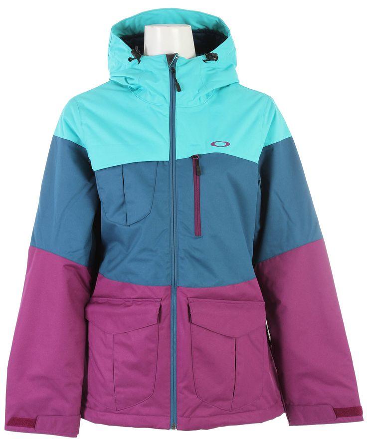 Oakley Bravo Insulated Snowboard Jacket Turquoise