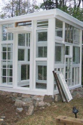 Old Windows - New Greenhouse garden-ideas