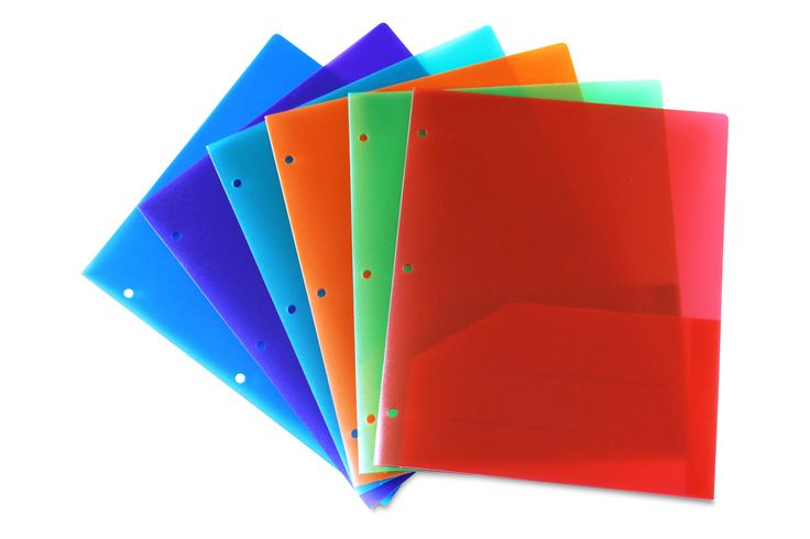 Embossed Plastic Folder Assorted Pack of 6 Hole Punched  #WorkColorfully #Stemsfx