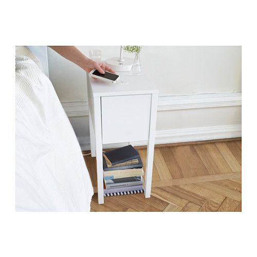 NORDLI Nightstand with wireless charging  - IKEA