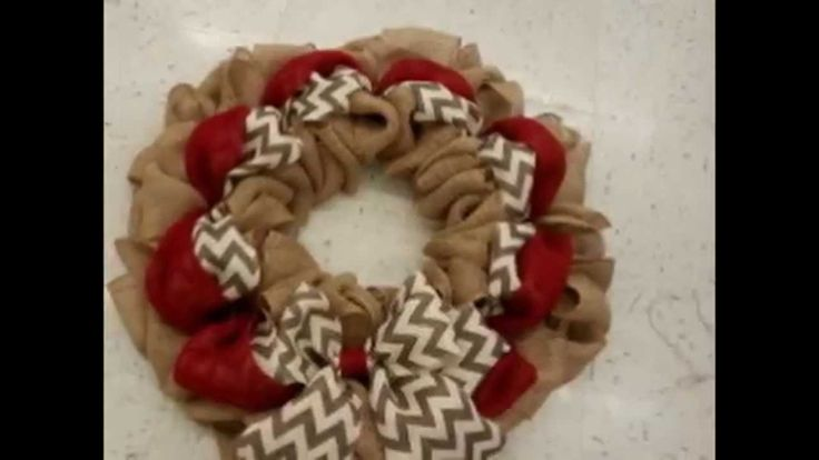 Slideshow Tutorial of How To Make This Burlap Wreath
