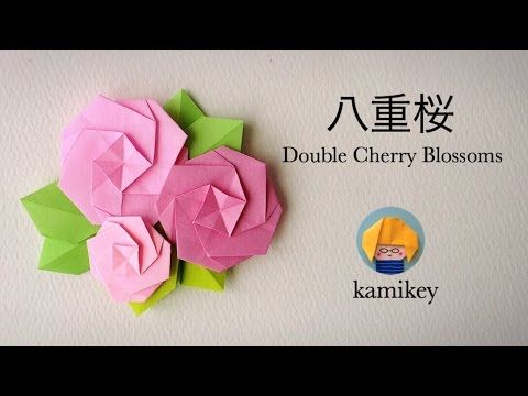 折り紙*八重桜 Origami Double Cherry Blossoms 櫻花雪