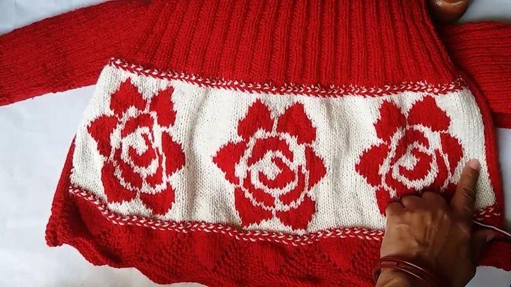 Making of girls knitting frock design # part 2