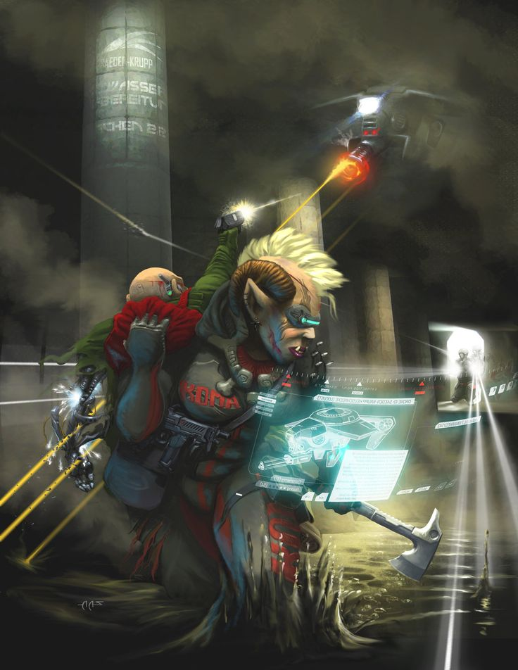 Shadowrun 5: Sewer Escape by raben-aas.deviantart.com on @DeviantArt
