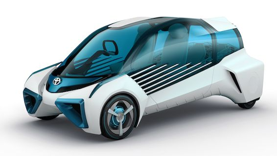 The FCV Plus concept explores how the hydrogen fuel cell used to power a car can also be deployed to as an energy source for general use. As well as having its own hydrogen fuel tank, the FCV Plus can generate electricity from hydrogen stored outside the vehicle, so the car can be used to produce power in different locations – at home, at work, or further afield.