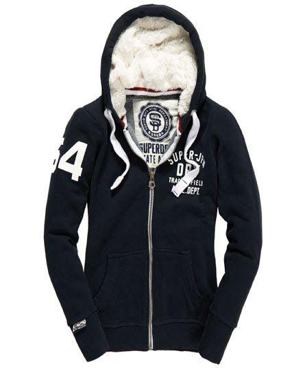 Superdry Track & Field Fur Hoodie