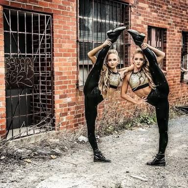 the rybka twins fierce gymnastics dance  gymnastics