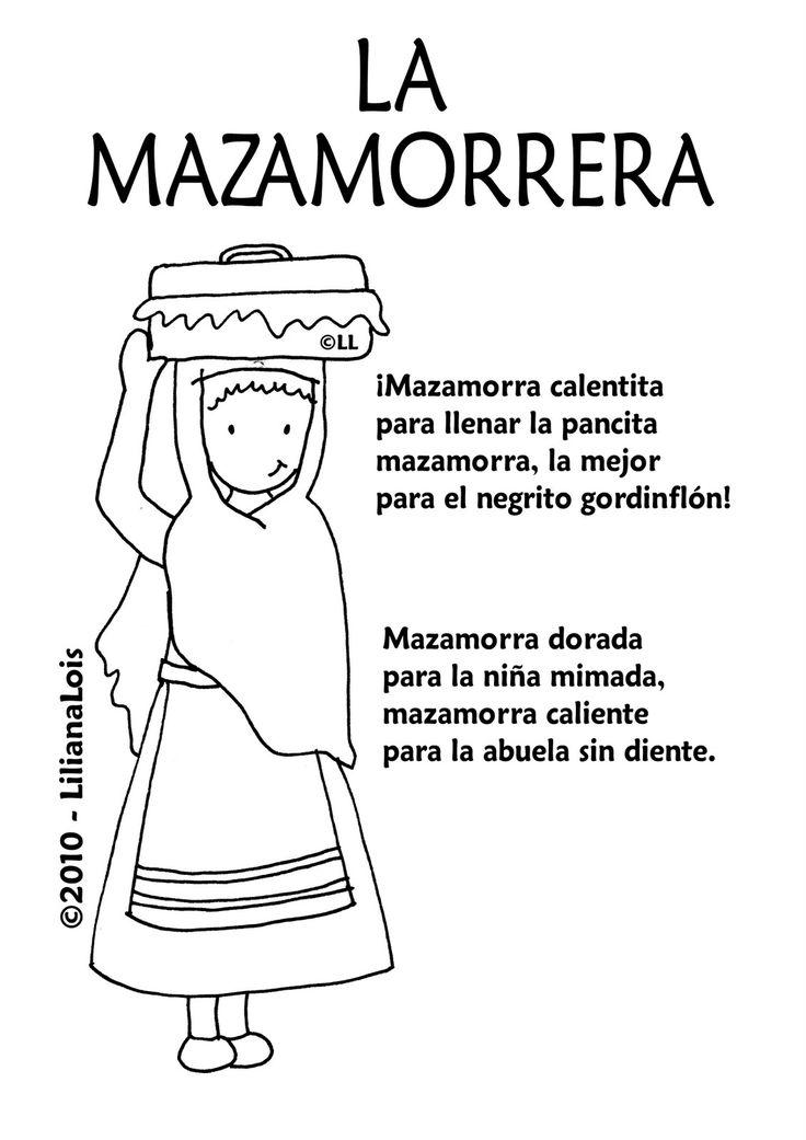 Vendedores de la epoca colonial: la mazamorrera.
