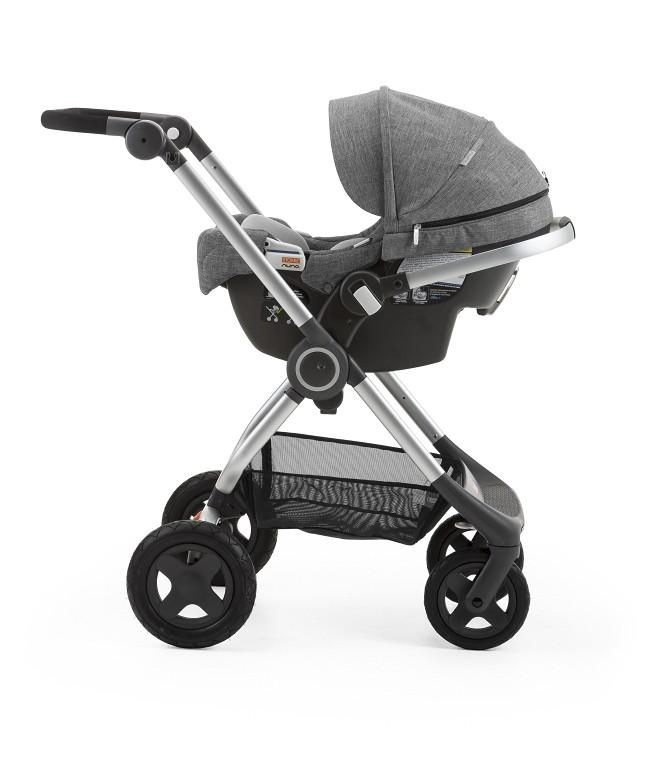 Stokke® PIPA™ by Nuna® is perfect for city living, taxis and travel, as it can be used with a vehicle's seat belt without the use of a base and is aircraft certified*. Best of all, the Stokke® PIPA™ by Nuna® Infant Car Seat can also be used as a stroller seat as part of a travel system with all of our strollers including Stokke® Xplory®, Stokke® Scoot™, Stokke® Trailz™ and Stokke® Crusi™ without the use of adaptors. Available in black and black melangè for effortless styling.