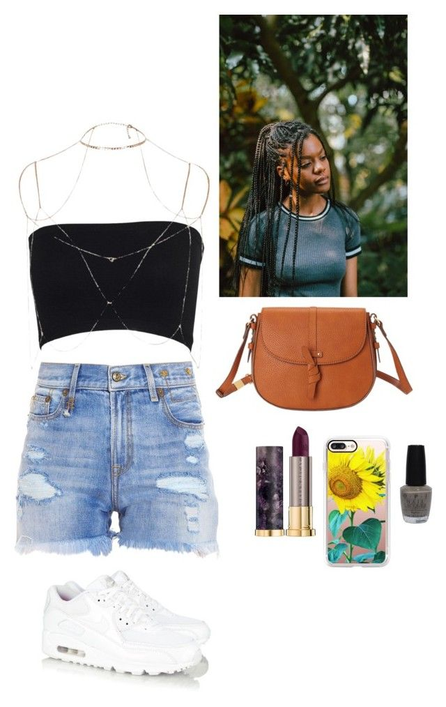 """SummaTyme in Cali"" by marshay-horne on Polyvore featuring R13, Foley + Corinna, NIKE, Urban Decay, Casetify, River Island and OPI"