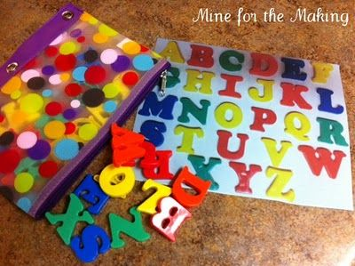 Alphabet Match Up Busy Bag: Magnets Boards, Preschool Ideas, Alphabet Matching, Abc Matching, Letters Business Bags, Letters Matching, Quiet Time Activities, Terrif Tuesday, Bags Ideas