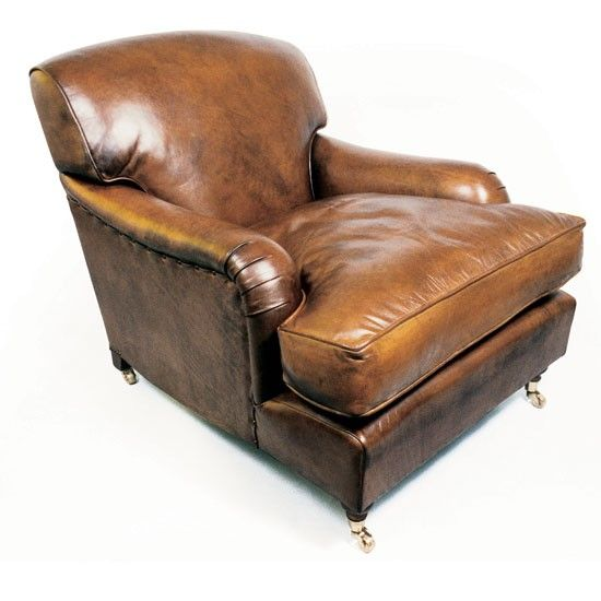 Lansdown leather slipper chair from Leather Chairs of Bath, UK.