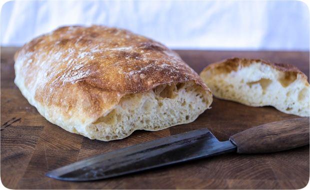 Snabbt bröd med stora hål