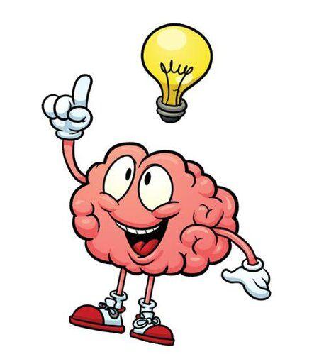 Днем, прикольный рисунок мозга