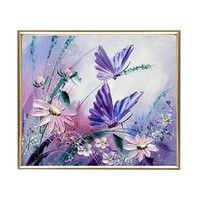 With this DIY diamond painting set, creating an art work becomes easy and fast. High quality rhinest