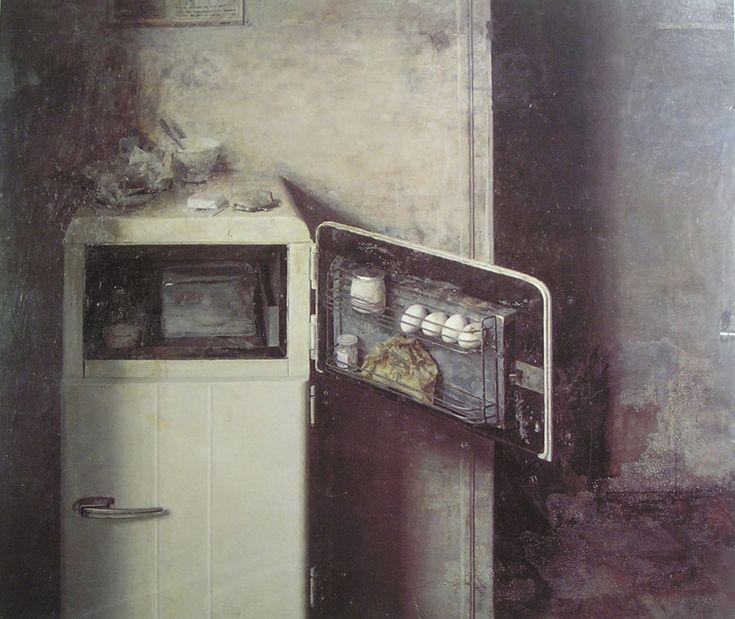 melisaki:    El aparador  paint by Antonio López, 1965-1966
