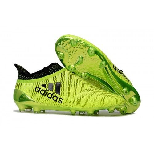 Billig Adidas X 17 Purechaos FG Fotballsko Fluo Grunn Svart