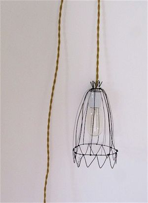 38 best wire lamp images on pinterest ceiling lamps chandeliers circus lampshade a lamp hanging around a nail keyboard keysfo Images