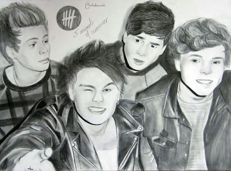 5SOS- Don't stop fan art | Drawings | Pinterest