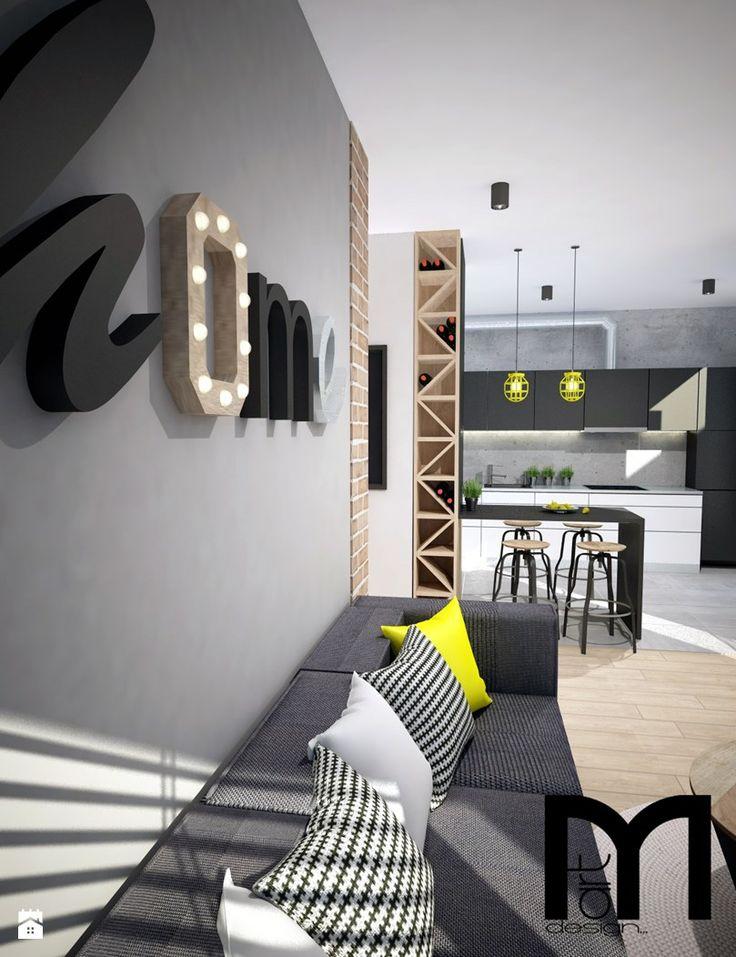 Salon styl Industrialny - zdjęcie od Mart-Design Architektura Wnętrz - Salon - Styl Industrialny - Mart-Design Architektura Wnętrz