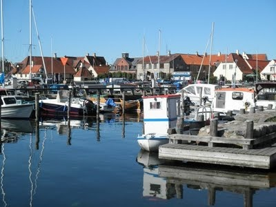 Dragor, Denmark. A small, old, historic fishing village.