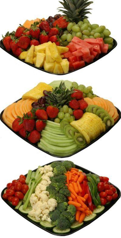 Deli Fruit And Veggie Tray Ideas Shower BabyTropical