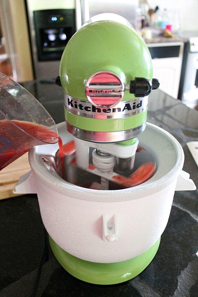 KitchenAid Ice Cream Maker Tropical Fruit Sorbet Mixing