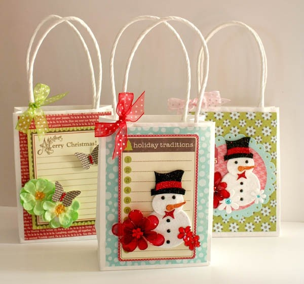 Decorated Paper Bags For Christmas Decoration For Home