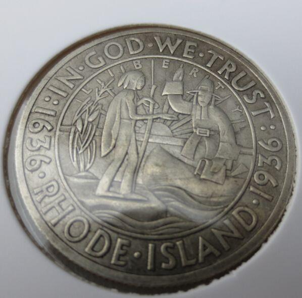 1936 S Род-Айленд Серебро Половина Доллар Копия Монеты