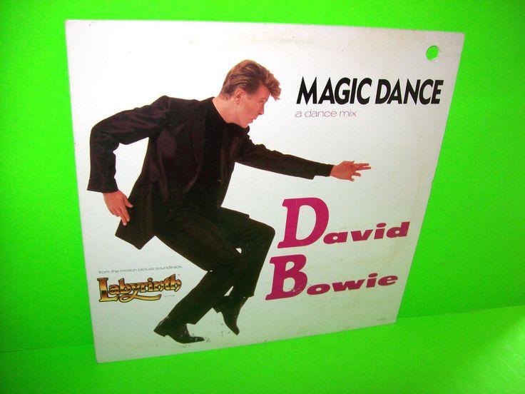 "DAVID BOWIE Magic Dance 1986 Vintage Vinyl 12"" From LABYRINTH FILM 3 Track EP #DavidBowie"