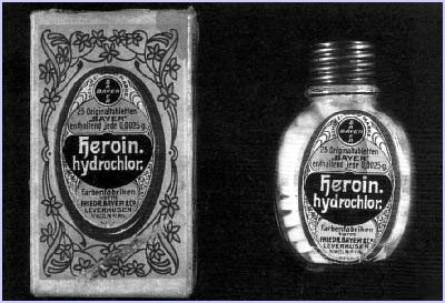 Eleven days after launching the popular market Aspirin, Bayer laboratories begin to market a revolutionary new product: Heroin . Within months, both brands, Aspirin ® and Heroin ® were announced together as insurmountable pain. One took pains to the world and the other, put them a great time.