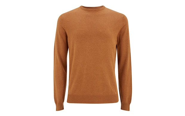 """Knit Crew Neck Jumper. """"The natural tone of this fine-knit crew neck jumper makes it perfect for layering on a chilly day."""""""