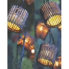 backyard tiki lights.  Could you use garden edging?  might be worth a go.