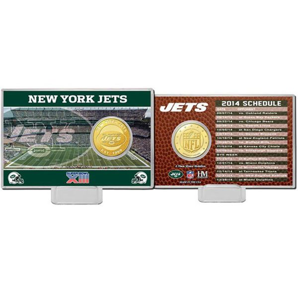 New York Jets Highland Mint Schedule Coin Card - $19.99