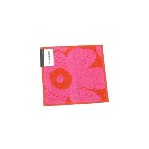 【商品名】  marimekko(マリメッコ) タオル 63837 330 RED/PINK 【型番】  63837 【サイズ】  25×25  34g